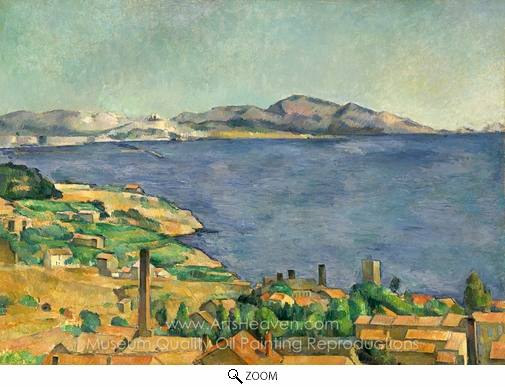 Paul Cézanne, The Gulf of Marseilles oil painting reproduction