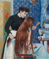 The Hairstyle painting reproduction, Federico Zandomeneghi