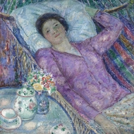The Hammock painting reproduction, Frederick Carl Frieseke