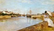The Harbor at Lorient painting reproduction, Berthe Morisot