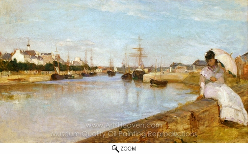 Berthe Morisot, The Harbor at Lorient oil painting reproduction