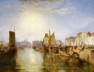 The Harbor of Dieppe painting reproduction, Joseph M. W. Turner