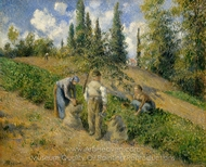 The Harvest, Pontoise painting reproduction, Camille Pissarro