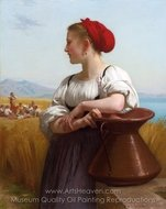 The Harvester (Moissonneuse) painting reproduction, William A. Bouguereau