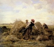 The Harvesters painting reproduction, Julien Dupre