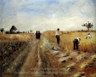 The Harvesters painting reproduction, Pierre-Auguste Renoir