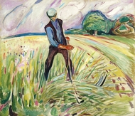 The Haymaker painting reproduction, Edvard Munch