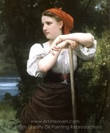 The Haymaker (Faneuse) painting reproduction, William A. Bouguereau