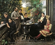The Hirschsprung Family Portrait painting reproduction, Peder Severin Kroyer