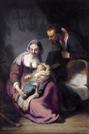 The Holy Family painting reproduction, Rembrandt Van Rijn