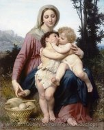 The Holy Family (Sainte Famille) painting reproduction, William A. Bouguereau