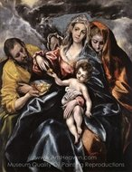 The Holy Family with Saint Mary Magdalen painting reproduction, El Greco