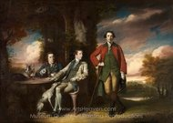 The Honorable Henry Fane with Inigo Jones and Charles Blair painting reproduction, Sir Joshua Reynolds