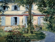 The House at Rueil painting reproduction, Édouard Manet