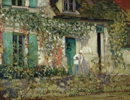 The House in Giverny painting reproduction, Frederick Carl Frieseke