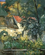 The House of Pere Lacroix at Auvers painting reproduction, Paul Cézanne