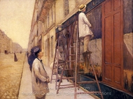 The House Painters painting reproduction, Gustave Caillebotte