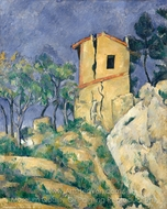 The House with the Cracked Walls painting reproduction, Paul Cézanne