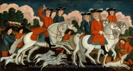 The Hunting Party New Jersey painting reproduction, Samuel Schwartz