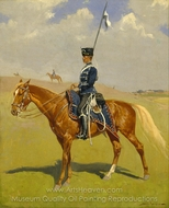 The Hussar painting reproduction, Frederic Remington