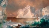 The Icebergs painting reproduction, Frederic Edwin Church