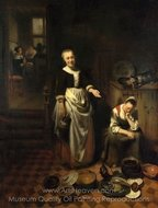 The Idle Servant painting reproduction, Nicolaes Maes