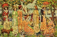 The Idlers painting reproduction, Maurice Prendergast