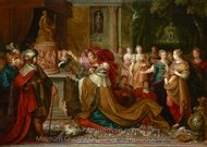 The Idolatry of Solomon painting reproduction, Frans Francken