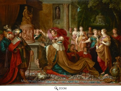 Frans Francken, The Idolatry of Solomon oil painting reproduction