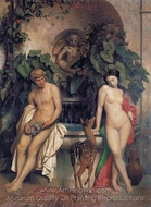 The Idylle, Daphnis and Chloe painting reproduction, Jean-Leon Gerome