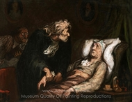 The Imaginary Illness painting reproduction, Honore Daumier