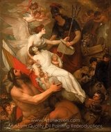 The Immortality of Nelson painting reproduction, Benjamin West