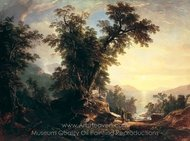 The Indian's Vespers painting reproduction, Asher Brown Durand