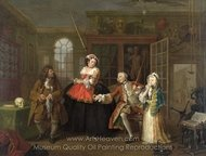 The Inspection painting reproduction, William Hogarth