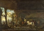 The Interior of a Stable painting reproduction, Philips Wouwerman