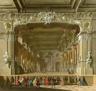 The Interior of a Theatre painting reproduction, Italian Painter