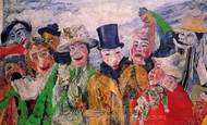 The Intrigue painting reproduction, James Ensor