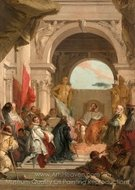 The Investiture of Bishop Harold as Duke of Franconia painting reproduction, Giovanni Battista Tiepolo