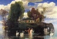 The Island of Life painting reproduction, Arnold Bocklin
