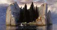 The Island of the Dead painting reproduction, Arnold Bocklin