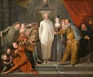 The Italian Comedians painting reproduction, Jean Antoine Watteau