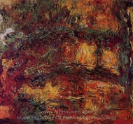 The Japanese Bridge at Giverny painting reproduction, Claude Monet