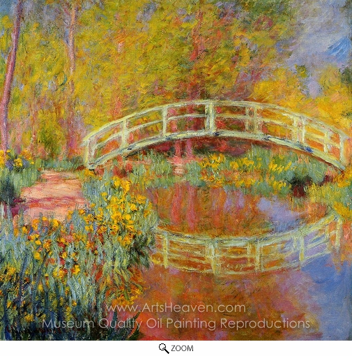 Claude Monet, The Japanese Bridge at Giverny oil painting reproduction