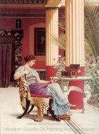 The Jewel Casket painting reproduction, John William Godward