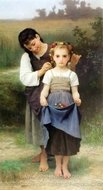 The Jewel of the Fields (Parure des Champs) painting reproduction, William A. Bouguereau
