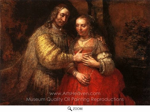 Rembrandt Van Rijn, The Jewish Bride oil painting reproduction