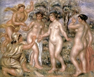 The Judgement of Paris painting reproduction, Pierre-Auguste Renoir
