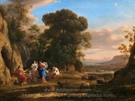 The Judgment of Paris painting reproduction, Claude Lorraine