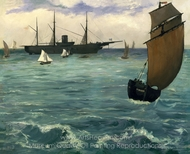 "The ""Kearsarge"" at Boulogne painting reproduction, �douard Manet"