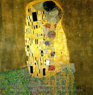 The Kiss painting reproduction, Gustav Klimt